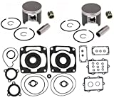 SPI, K-09-16471126209152C, 2 SPI Piston Kits, Bearings & Full Gasket Kit Arctic Cat 900 Mountain Cat, King Cat & ZR900