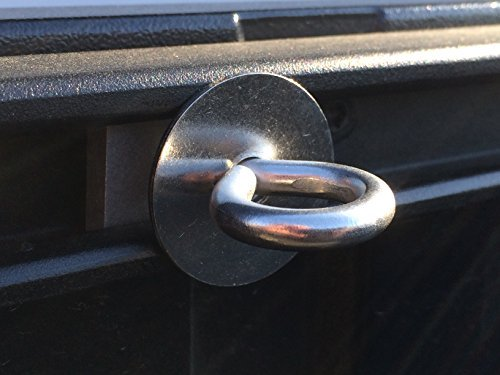 Toyota Tacoma & Tundra Bed Rail Tie Down Eyelet Cargo Cleats - Set of 4
