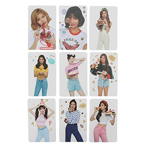 Bosushine Cute TWICE Postcards, Hand Holder Fan (Transparent card)