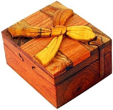Caja secreta de madera joya joyeria para baratijas hecha a mano ...