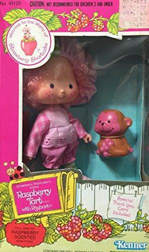 Raspberry Tart Doll - Strawberry Shortcake Raspberry Tart Doll With Rhubarb Pet 1980