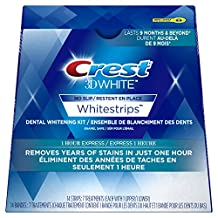 Crest 3D White Whitestrips 1 Hour Express Treatments, 7 Count