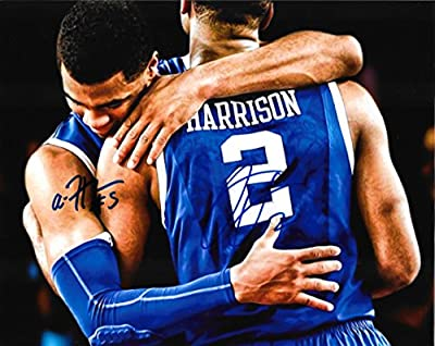 Aaron Harrison & Andrew Harrison - Signed 8x10 UK Kentucky Wildcats Photo w/ COA