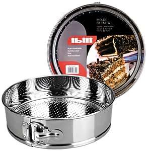 Ibili 650223 - Molde de tarta desmontable Inox 23 cm