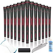 Champkey Traction-X Golf Grips Set of 13 - Choose Between 13 Grips with 15 Tapes and 13 Grips with All Repair