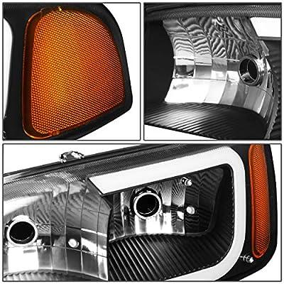 DNA Motoring Black amber HL-LB2-SIERRA99-BK-AM LED DRL Front Driving Headlight+Turn Signal Bumper Lamps Upgrade: Automotive