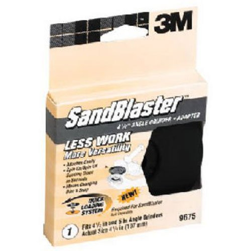 3M SandBlaster 9675 4.5-Inch Angle Grinder Quick Loading Adapter by 3M