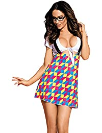 Sexy Top Suspender Dress Secretary Outfit Costume Lingerie for Women