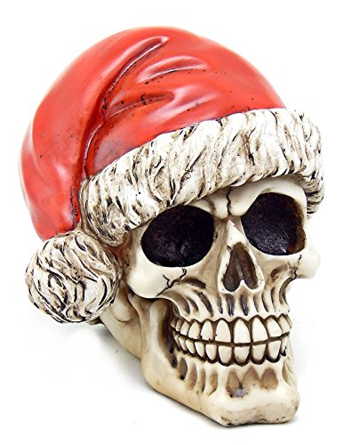 Skelly Claus Ii Terror Santa Skull Statue Resin Figurine Hol