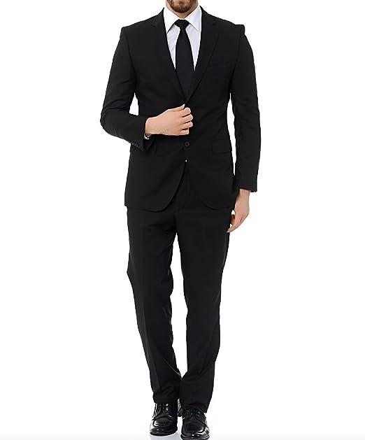 Jack Paul Traje de hombre negro Slim Fit Traje Slim Fit Tallas 44 - 52 negro  54  Amazon.es  Ropa y accesorios 67ba0796328