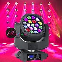 Pack of 2 Sharpie Eye Lighting Beam Moving Head LED Wash Stage Bee Eye DMX Vertex DJ Party Balls Lighting Osram 19x15W RGBW 4in1 Lightbeam Clay Paky K10 Similar