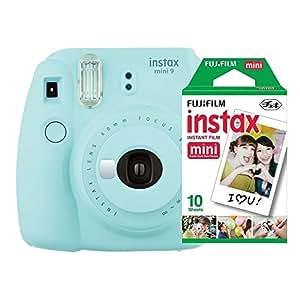 Câmera instantânea Fujifilm Instax Mini 9 Azul Aqua + Pack 10 fotos