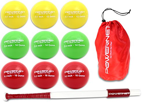 (PowerNet Sweet Spot Training Bat + Softball 3.2