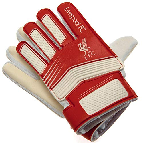 Liverpool FC Kids Goalkeeper Gloves (One Size) (Red/White)