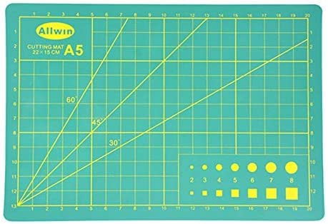 Non-Slip 2-Pack Professional Rotary Cutting Mat Great for Scrapbooking Quilting Single Sided 8.6 x 5.8 Inches Self Healing Cutting Mat Small and Portable Sewing Durable Arts and Crafts