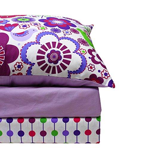 Botanical Purple Twin Sheet Set