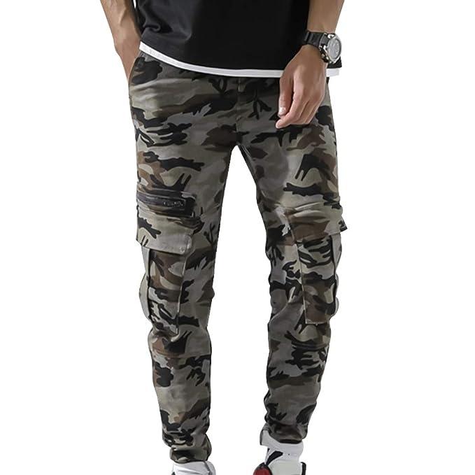 LASPERAL - Pantalones de chándal para Hombre, de algodón, con ...