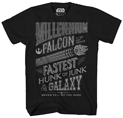 Han Solo & Chewie Millennium Falcon T-Shirt for Adults