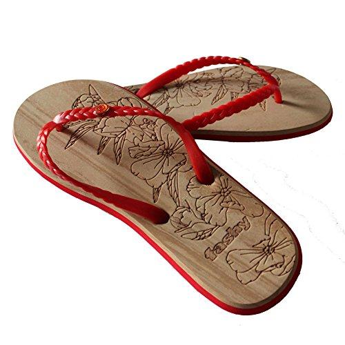 fashy - Sandalias para mujer Rojo