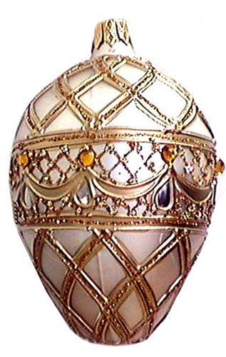 Museum Collection Fabergé Bellagio Egg Glass Ornament-Large