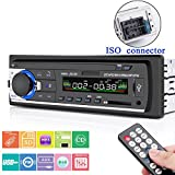 Car Stereo with Bluetooth, Huicocy Universal In-Dash Single Din Car Radio Receiver MP3 Player/USB/SD Card/AUX/FM Radio with Remote Control