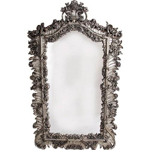 Timeless Reflections by AFD Home 10771925 Florette Mirror, Antique Silver Finish, Large (Mirror Gilt Silver)