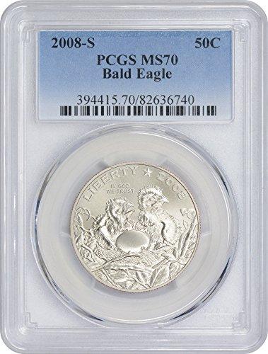 2008 S Bald Eagle Commemorative Half MS70 PCGS