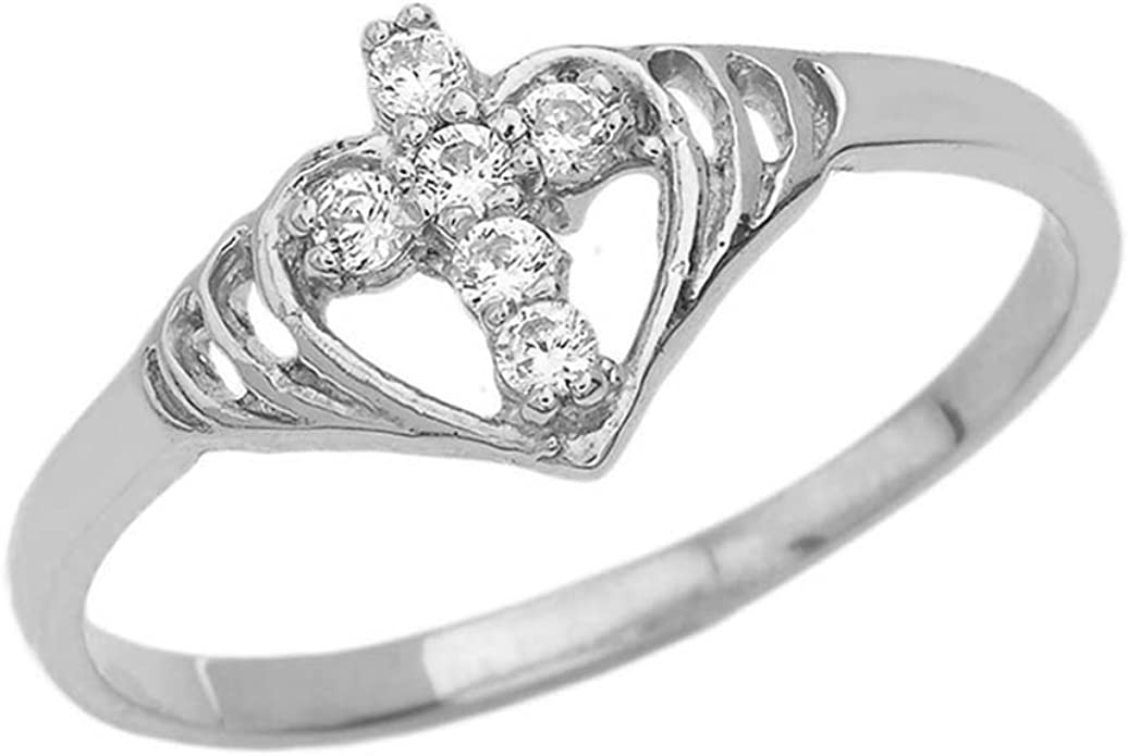 Cute Cubic Zirconia Bow Rope Band .925 Sterling Silver Ring Sizes 4-10