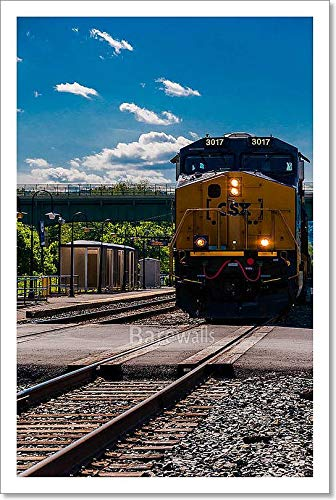 (A CSX Train Approaching A Road Crossing in Brunswick, Maryland. Paper Print Wall Art Paper Print Wall Art (15in. x 10in.))