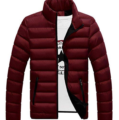 Il Maschile Collare Caldo Rosso Inverno Abbigliamento Casual Originaltree Per Autunno Vino Piumino Basamento Leggero Snzaa4