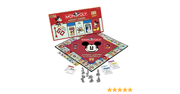 MONOPOLY Mickey Mouse 75th Anniversary Collector's Edition Board ...
