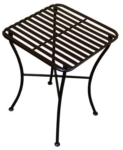 Folding Iron Square Side Table - Black (Table Pangaea Folding Black)