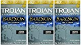 Trojan Sensitivity, BareSkin Premium Latex Condoms 10 ct (Quantity of 3)