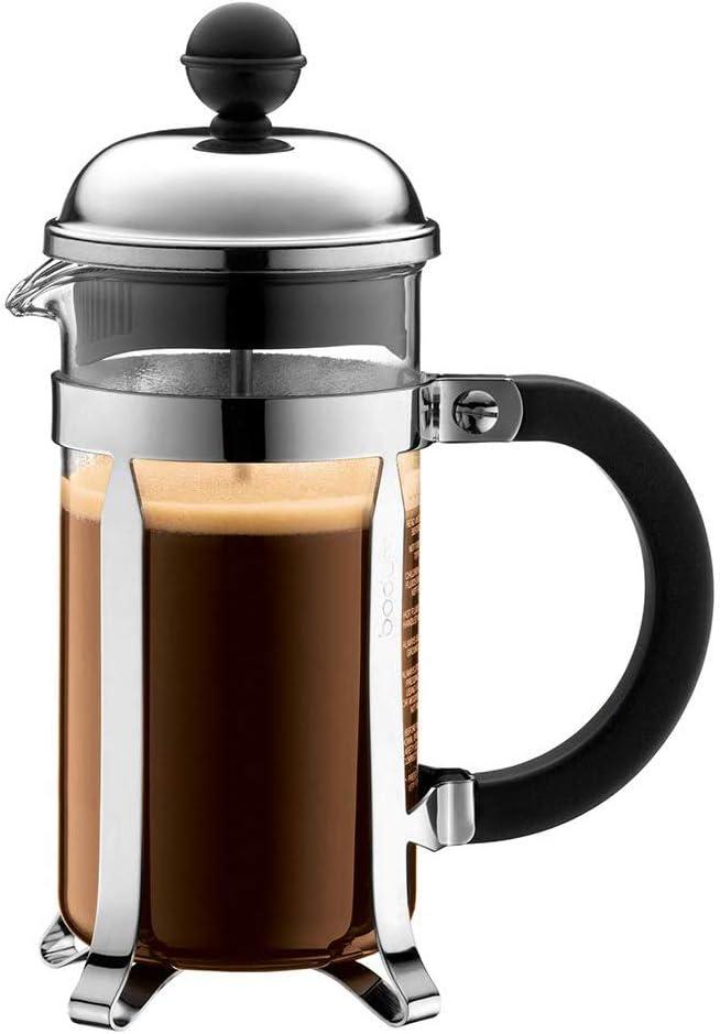 Bodum Chambord French Press 3 Cups 0.35 L Cafetera émbolo, Vidrio, plástico, Acero, Centimeters: Amazon.es: Hogar