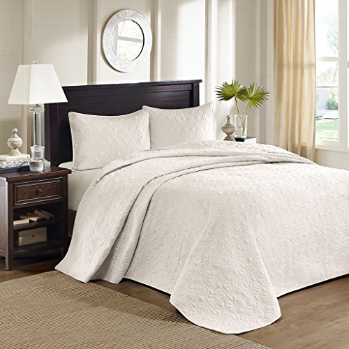 Madison Park Quebec 3 Piece Bedspread Set, King, Ivory