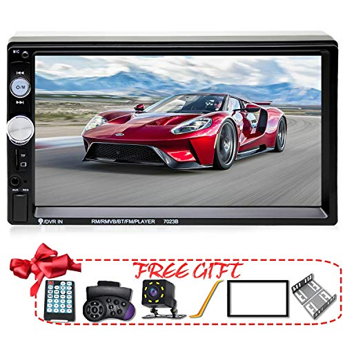 Screen Radio Bluetooth Touch - XIFULI 7 inch Double Din Touch Screen Car Stereo Upgrade The Latest Version MP5/4/3 Player FM Radio Video Audio Bluetooth Support Rear-View Camera Steering Wheel Remote Control Mirror Link Caller ID