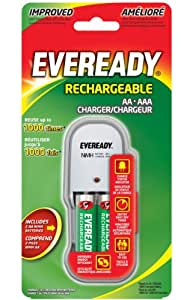 Amazon.com: Eveready EV2PCWB-2 Charger with 2 AA Ni-MH