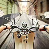 42.5X46cm Universal Motorcycle Windshield with Mounting Accessories for Motorcycles, Electric Cars, Scooters (with Mounting Accessories