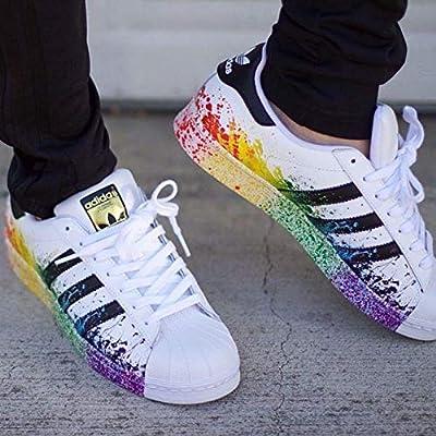adidas superstar paint splatter