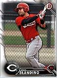 2016 Bowman Prospects #BP119 Alex Blandino Cincinnati Reds Baseball Card in Protective Screwdown Display Case