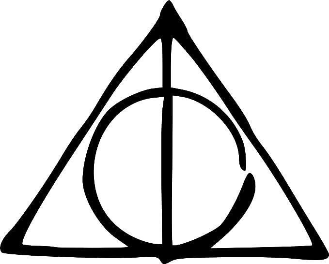 Amazon Harry Potter Deathly Hallows Sticker For Carstrucks