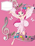 Music Manuscript Wide Staff For Girls: Children's Blank Sheet Music Manuscript Paper Notebook For Young Musician, Songwriter, Composer, Or Musical ... Volume 1 (Junior Chord Notation Lesson Memo)