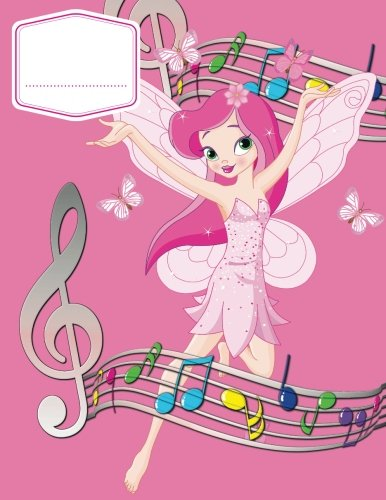 Music Manuscript Wide Staff For Girls: Children's Blank Sheet Music Manuscript Paper Notebook For Young Musician, Songwriter, Composer, Or Musical ... Chord Notation Lesson Memo) (Volume 1) - Wide Music