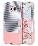 ULAK Galaxy S6 Case, S6 Case, Shock Resistant Hybrid Soft Silicone Hard PC Cover Case for Samsung Galaxy S6, Will NOT Fit S6 Active-Minimal Rose Gold