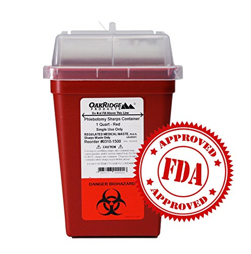 OakRidge Products 1 Quart Size (Pack of 5) | Needle Disposal Container | Buy 4 one get 1 Free by OakRidge Products (Image #5)