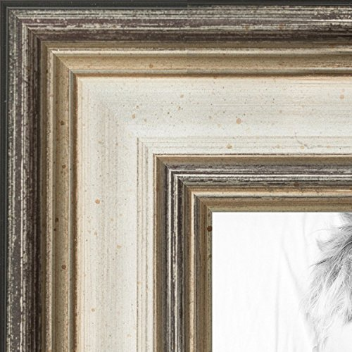 ArtToFrames 11x17 inch Antique Silver Panel Wood Picture Frame, WOMD8981-11x17 by ArtToFrames