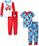 Gerber Boys' Baby and 4 Piece Cotton Pajama Set, Fire Truck, 18 Months