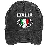 Liyo Vintage Italian Flag Crest Washed Cap