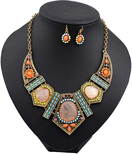 Clearance! Paymenow Women Girls Retro Bohemia Necklace Flower Geometric Hollow Out Summer Beach Dress Pendant Necklace Jewelry Gift (Multi) by Clearance! Paymenow (Image #2)