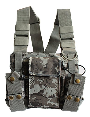 Climbing chest harness trainers4me lewong universal hands free chest harness bag holster for two way radio rescue essentials camouflage sciox Choice Image